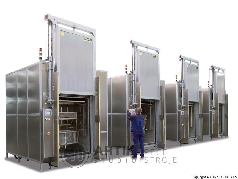 Průmyslové pece - pece na temperování silikonu