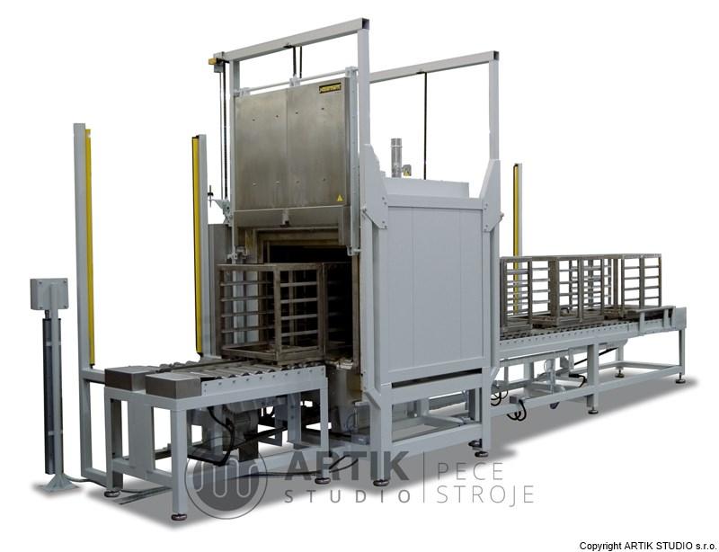 Pec pro průmysl - automatická kalící linka