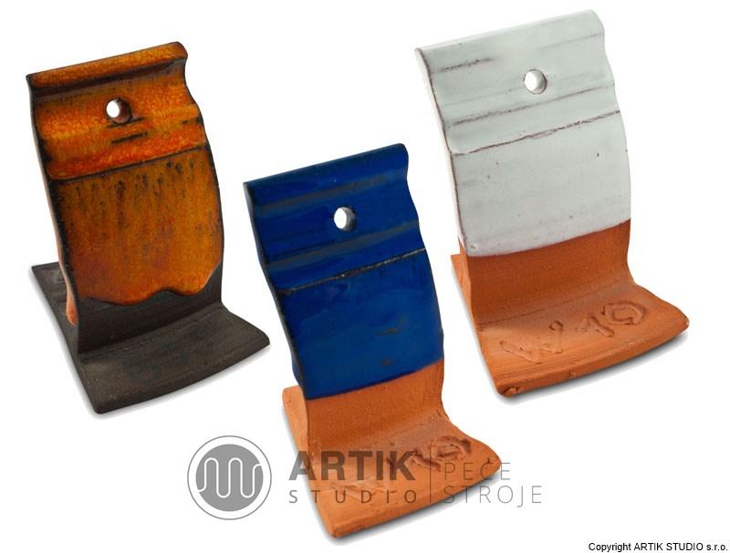 Keramická prášková glazura - vzorník